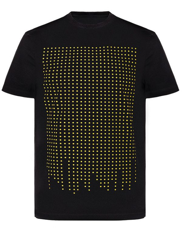 Sainte Apparel Dot Only black O-neck T-Shirt Image