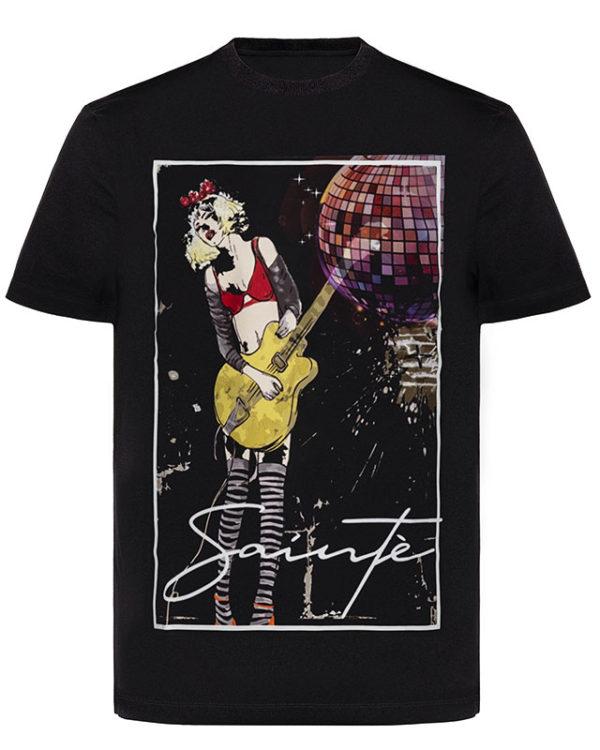 Street Girl Black T-Shirt Image