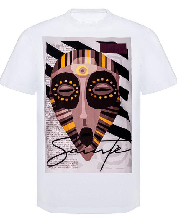 Voodoo Mask T-Shirt Image White