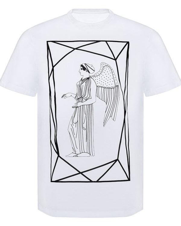 Framed Angel on Gold Print T-Shirt Image