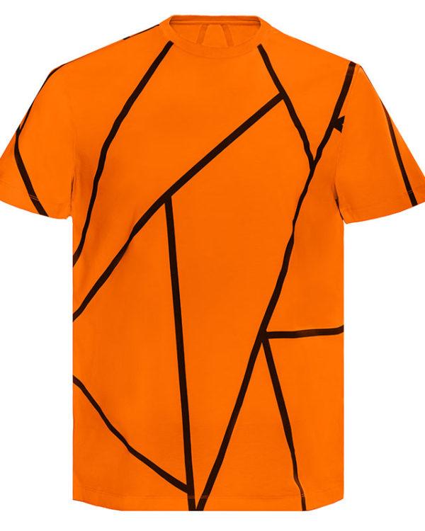 Orange Stripe T-Shirt Image